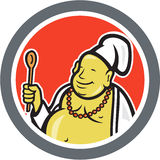Fat Buddha Chef Cook Cartoon Royalty Free Stock Photography