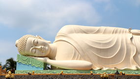 Fat Buddha head Royalty Free Stock Photos