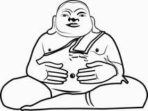 Fat buddha Stock Photo
