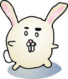 Fat bunny cartoon Royalty Free Stock Photography