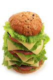 Fat burger Stock Photo