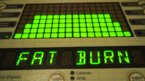 Digital fat burn control panel, gyms, calories, weight loss Stock Photography