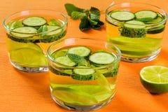 Fat Burning Detox Drink - Sassy Water, close-up royalty free stock photos
