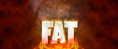 Fat Burning Illustration. Burning fat calories fitness workout Royalty Free Stock Photos