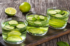 Fat Burning Weight Loss Detox Drink, close-up Stock Images