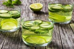 Fat Burning Weight Loss Detox Drink, close-up Stock Photos