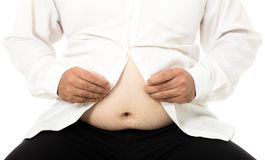 Fat business man with  big belly Royalty Free Stock Photography