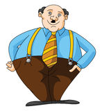 Fat Business man Stock Photography