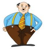 Fat Business man. Ilustrator design .eps 10 Stock Photography
