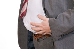 Fat businessman Royalty Free Stock Photo