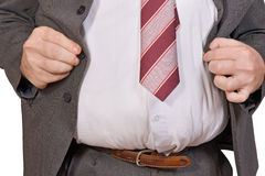 Fat businessman Royalty Free Stock Image