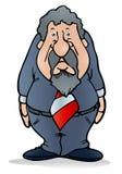 Fat businessman Stock Image