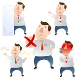 Fat Businessman set Stock Photography