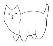 Fat cartoon cat Stock Photography