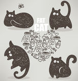 Fat cat Stock Photos