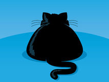 Fat Cat. Illustration of an overweight black cat Stock Images
