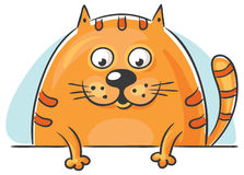 Fat cat peeping out royalty free illustration