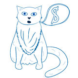 Fat cat - vector ilustration. Fat cat - hand drawn vector illustration Stock Photography