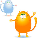 Fat cats Stock Image