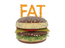 Fat cells concept. Word fat isolate on white background Stock Photo