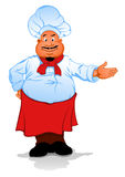 Fat chef cook Royalty Free Stock Photography