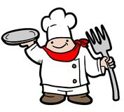 Fat chef Stock Photo