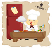 Fat chef Royalty Free Stock Images