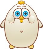 Fat Chicken. A white fat chicken smiling Royalty Free Stock Images