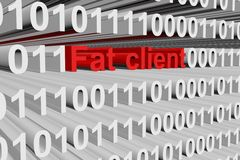 Fat client Royalty Free Stock Photo
