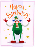 Fat clown birthday greeting Royalty Free Stock Images