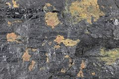 Fat coal. Extracted from Saarland/ Germany for background use Stock Image