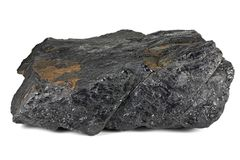 Fat coal. Extracted from Saarland/ Germany isolated on white background Royalty Free Stock Images