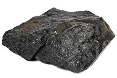 Fat coal. Extracted from Saarland/ Germany isolated on white background Stock Photography