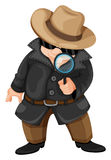 A fat detective Royalty Free Stock Images