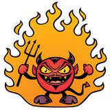 Fat Devil. Vector cartoon illustration of a fat little devil character royalty free illustration