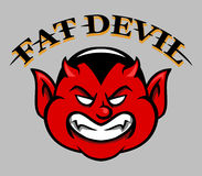 Fat Devil Face Royalty Free Stock Photography