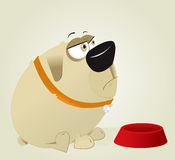 Fat DOG. Vector Cartoon Big Fat DOG Vector Illustration