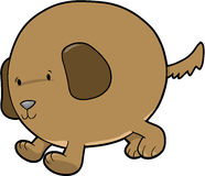 Fat Dog Vector Royalty Free Stock Photos