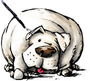 Fat Dog Royalty Free Stock Images