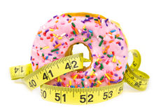 Fat Donut - Unhealthy Food Royalty Free Stock Photos
