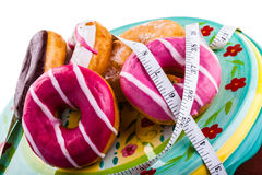 Fat doughnuts Stock Image