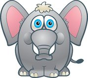 Fat Elephant Royalty Free Stock Photos
