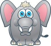 Fat Elephant. A grey fat elephant smiling Royalty Free Stock Photos