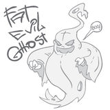 Fat evil ghost Royalty Free Stock Photography