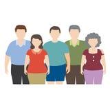 Fat family Stock Photo