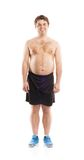Fat fitness man Royalty Free Stock Photos