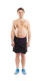 Fat fitness man Royalty Free Stock Photos