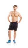 Fat fitness man Royalty Free Stock Images