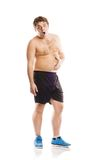 Fat fitness man Stock Image