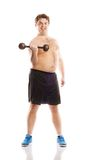 Fat fitness man Stock Images
